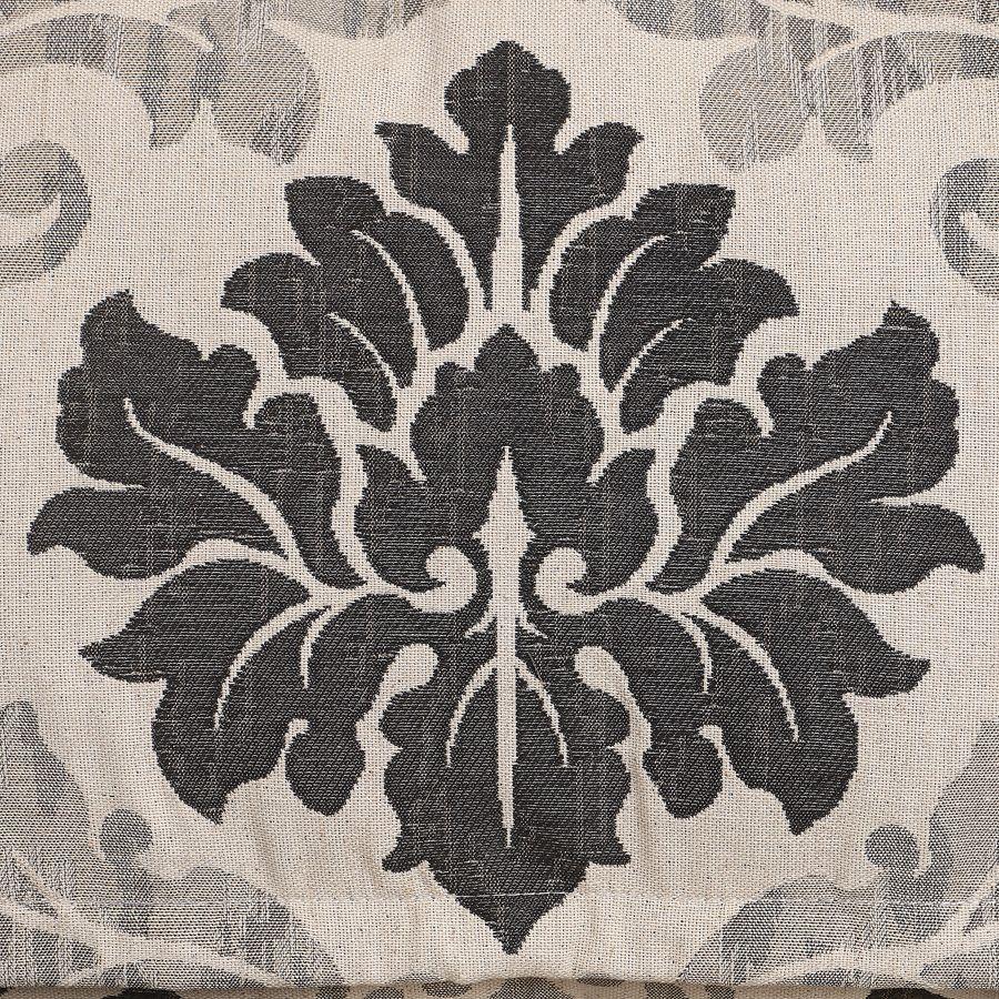 Banquette 3 places en hévéa et tissu arabesque - Constance