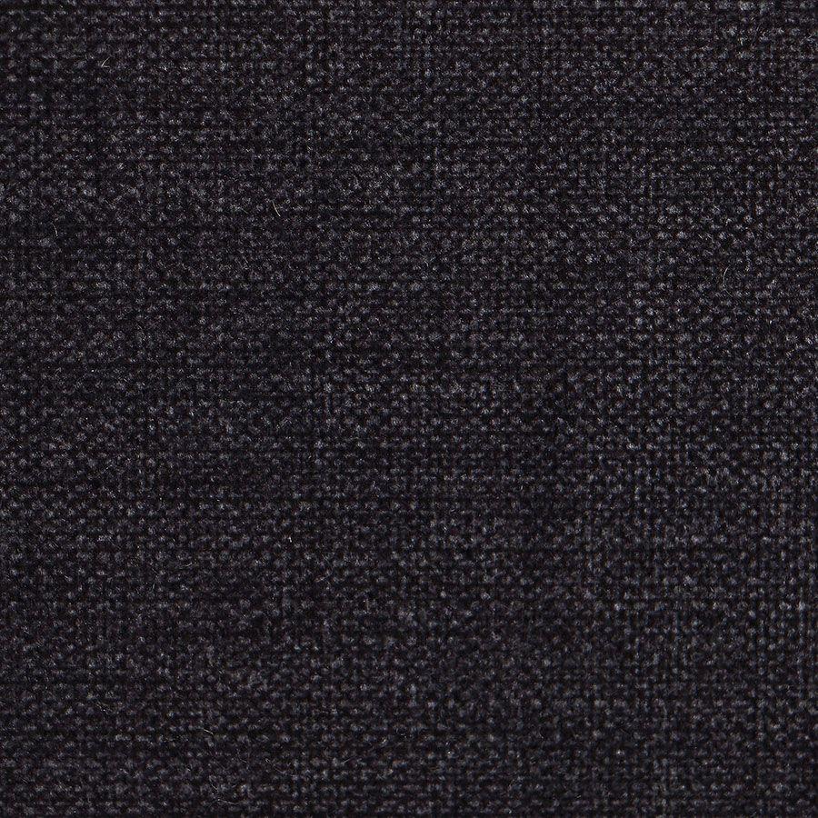 Banquette 3 places en frêne et tissu gris anthracite toucher velours - Constance
