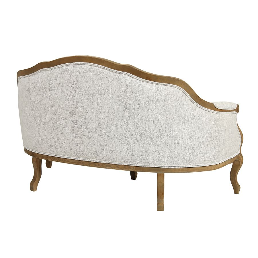 Banquette 3 places en tissu arabesque perle - Constance