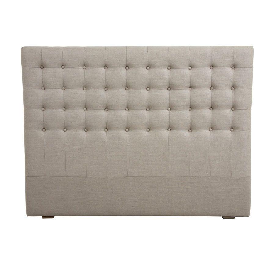Tête de lit capitonnée 160 en hévéa et tissu - Capucine