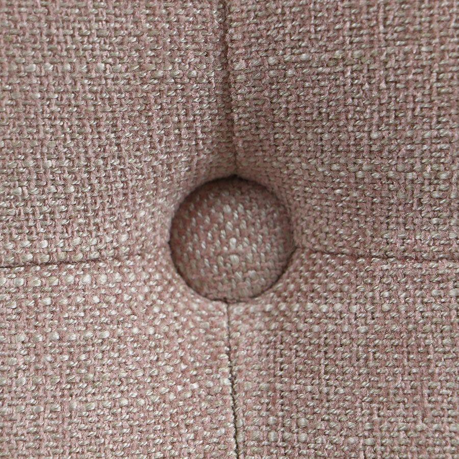 Tête de lit 140/160 cm cm en tissu vieux rose capitonné - Capucine