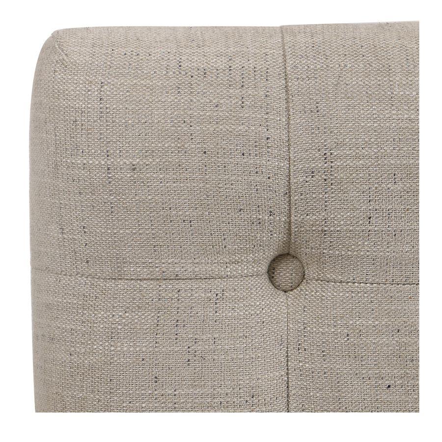 Tête de lit 140/160cm en tissu mastic grisé capitonné - Capucine