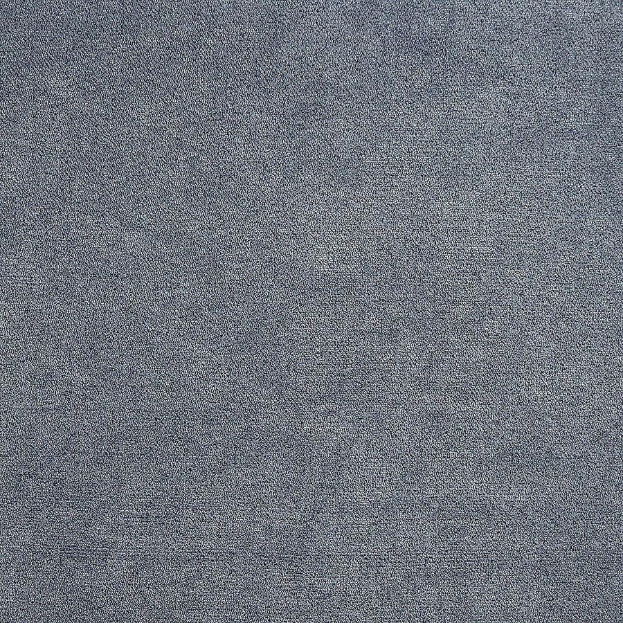 Banquette 3 places en hévéa gris argenté et tissu effet velours bleu gris - Léonie