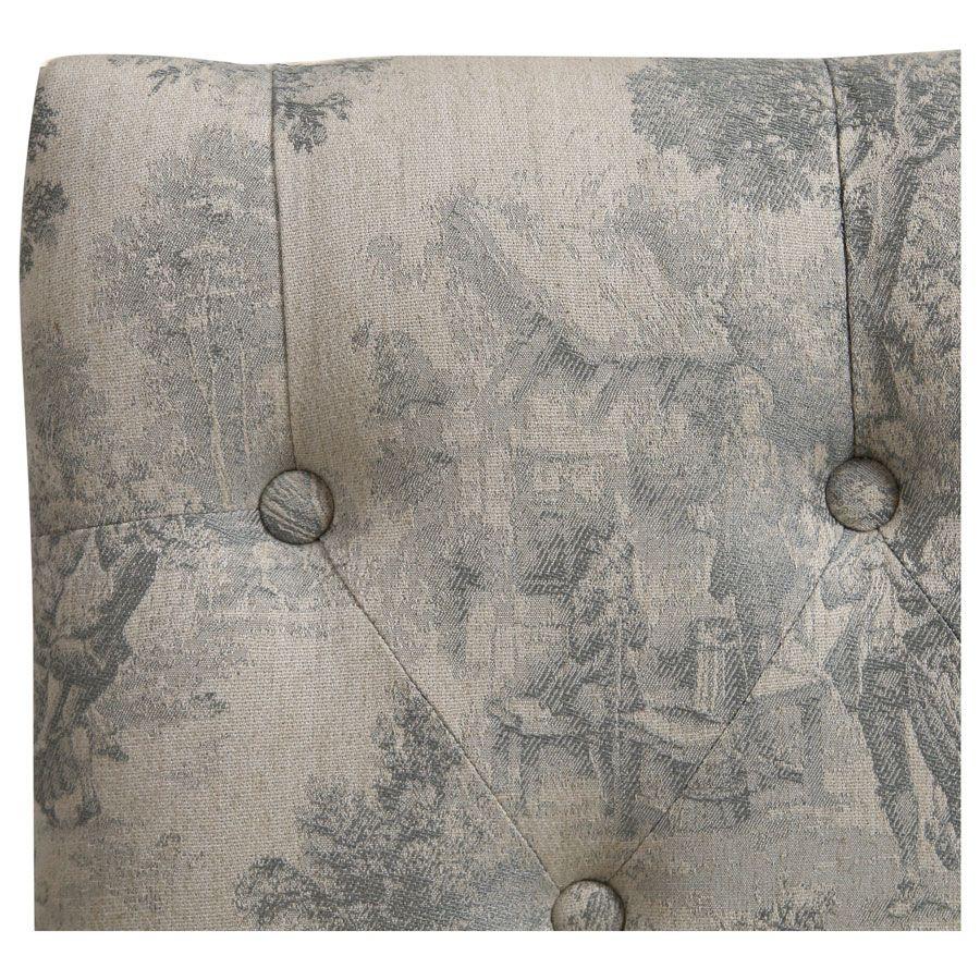 Banc en hévéa et tissu toile de Jouy - Louison