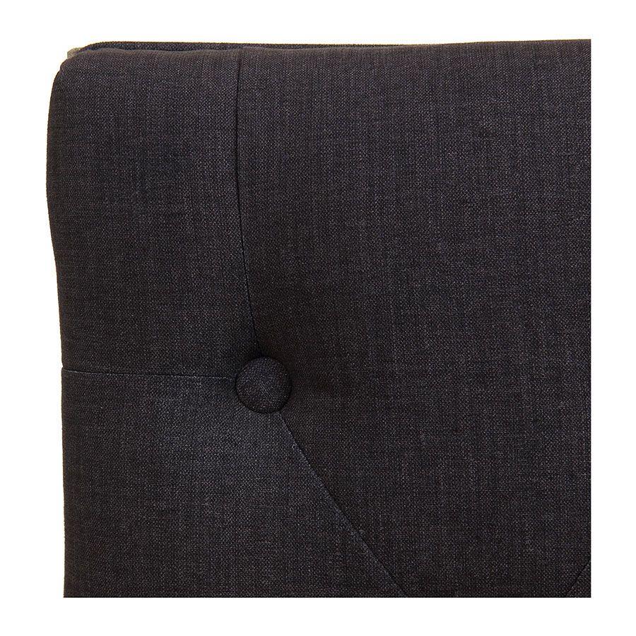 Banc en frêne et tissu gris anthracite - Louison