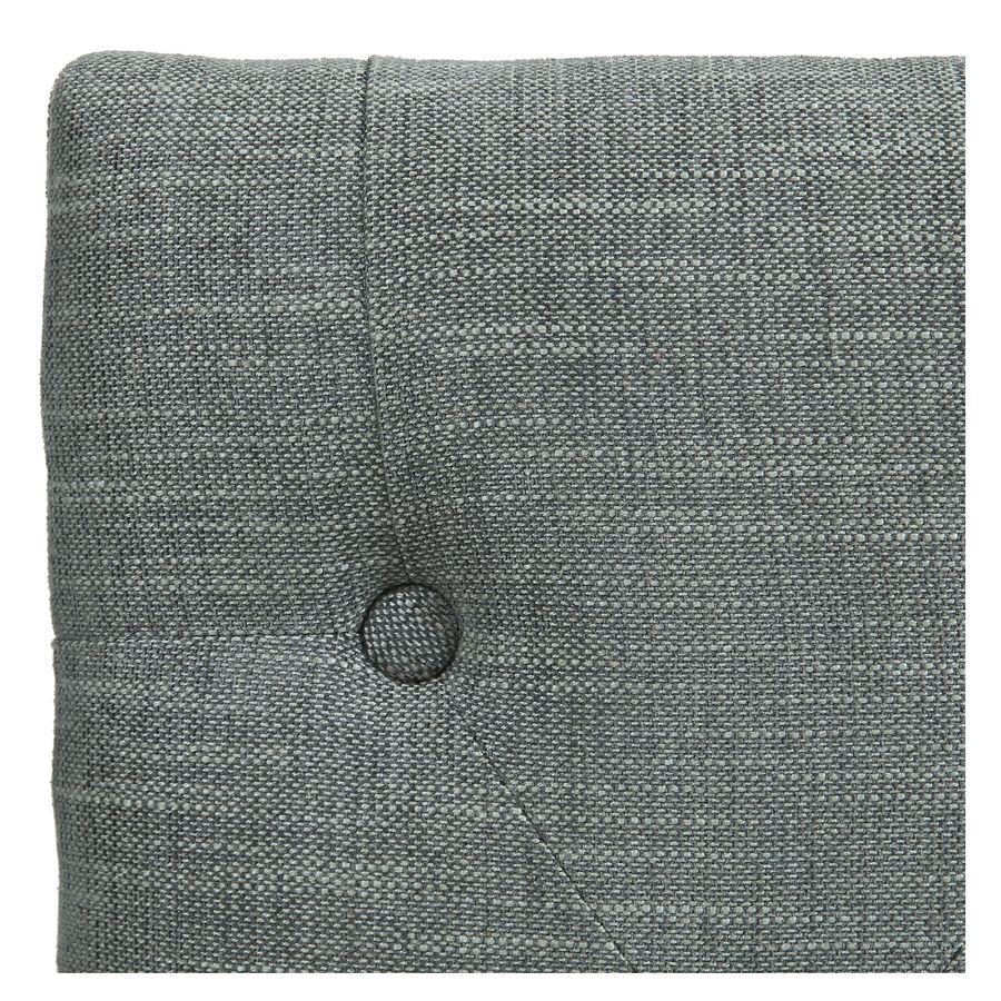 Banc en frêne et tissu gris chambray - Louison