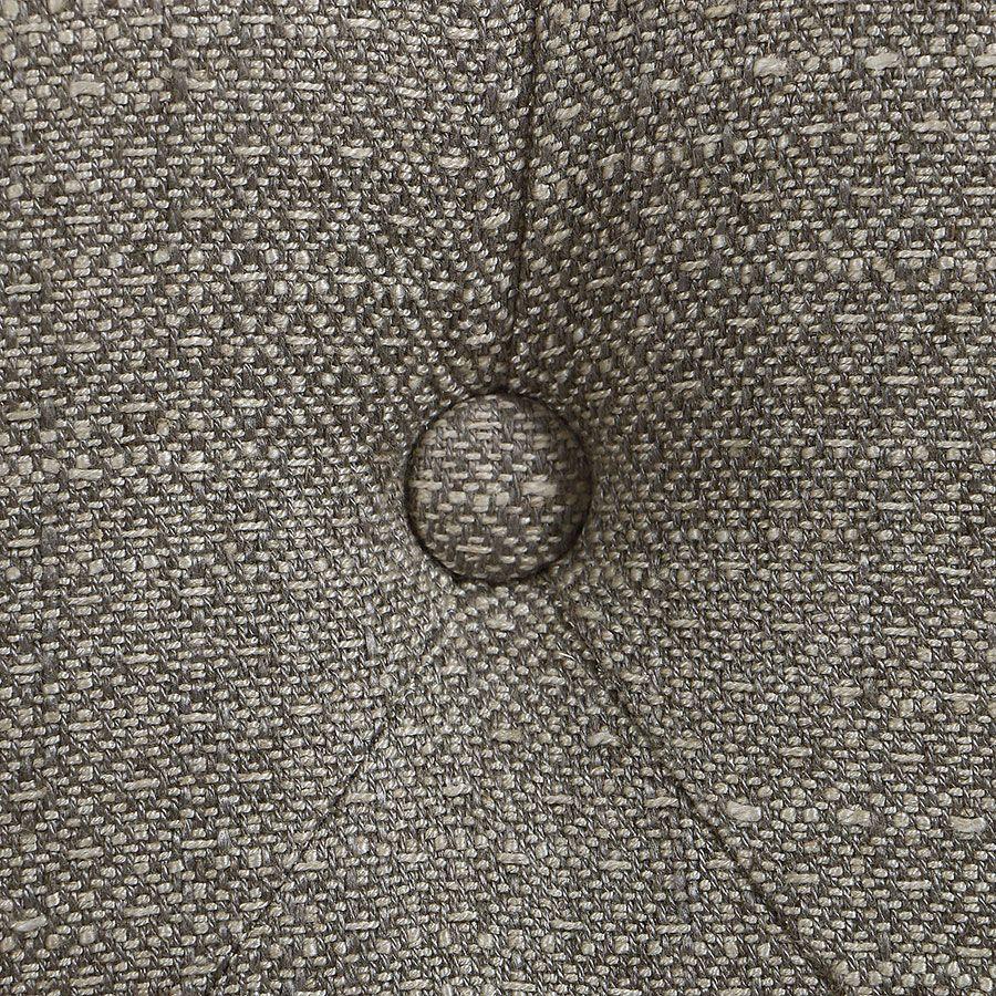 Banc en hévéa blanc et tissu losange gris - Louison