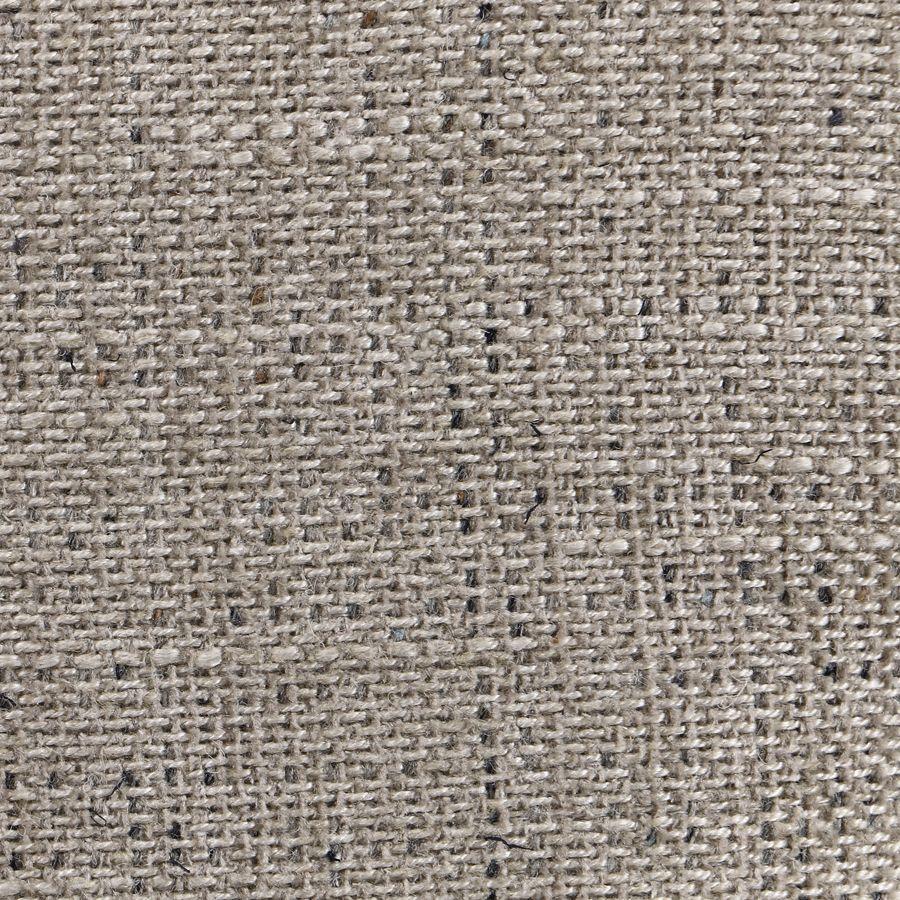 Banc en tissu mastic grisé et hévéa massif blanc - Louison