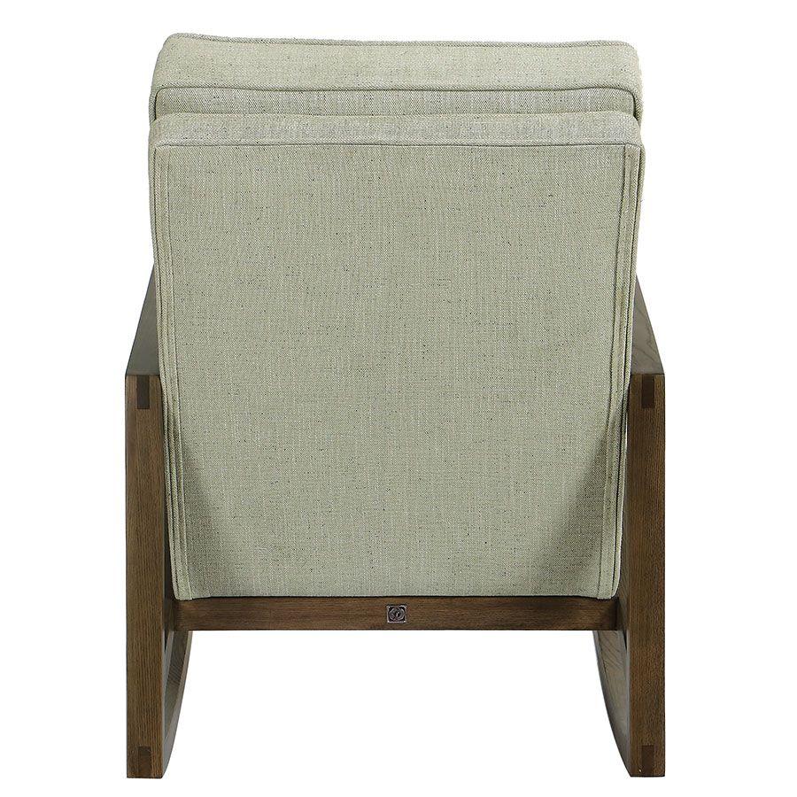 Rocking chair en tissu vert amande - Harold