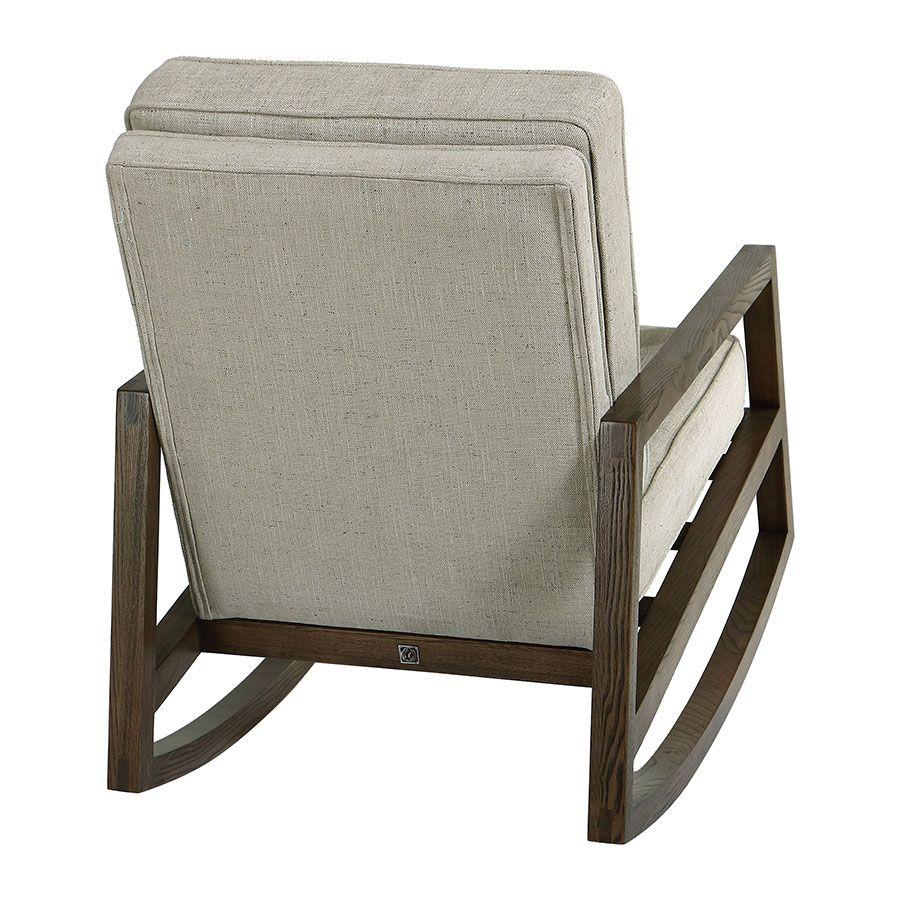 Rocking chair en tissu mastic grisé - Harold