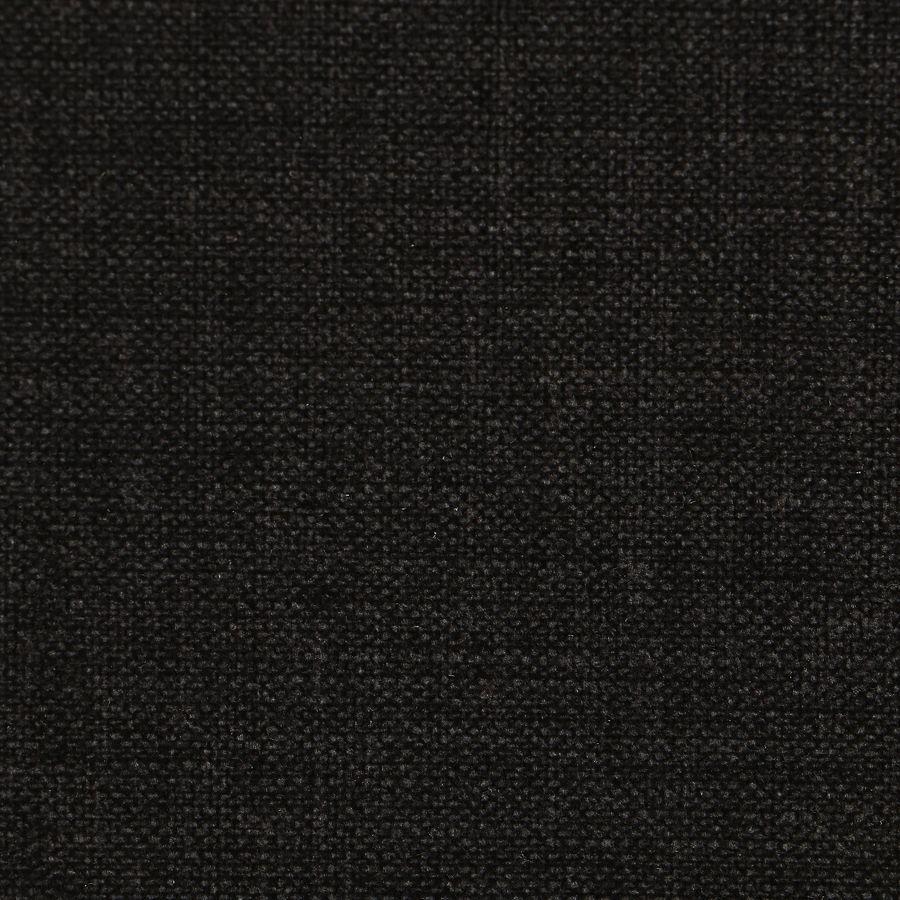 Banquette en tissu gris anthracite et hévéa massif noir - Joséphine