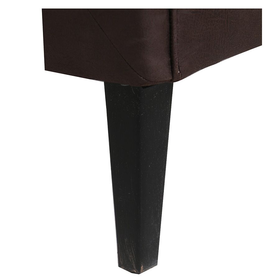 Banquette 2 places en éco-cuir chocolat - Joséphine