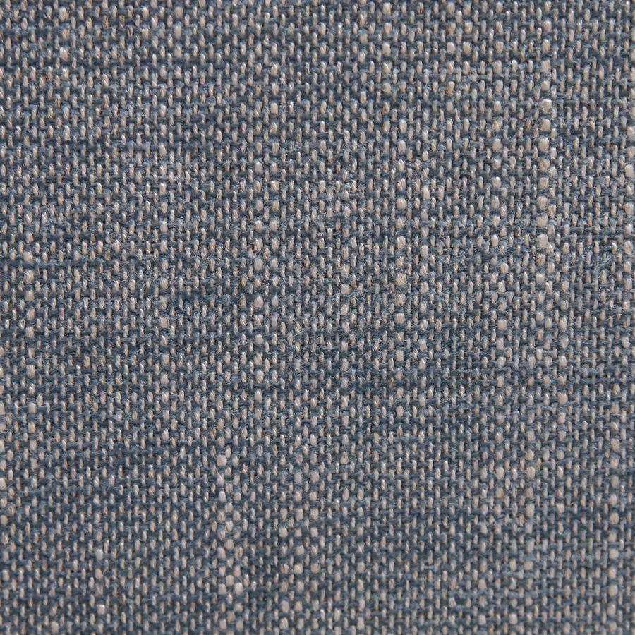 Banquette 2 places en tissu bleu chambray - Joséphine