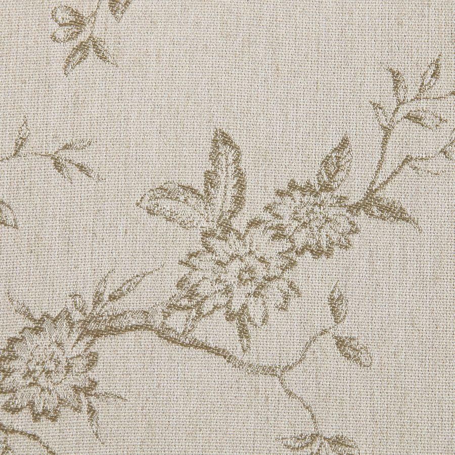 Fauteuil en tissu paradisier et frêne massif gris argenté - Auguste