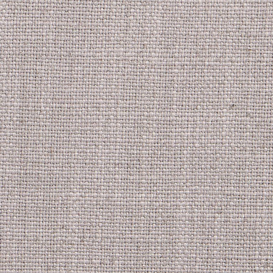 Fauteuil en tissu lin beige et finition Noir - Auguste
