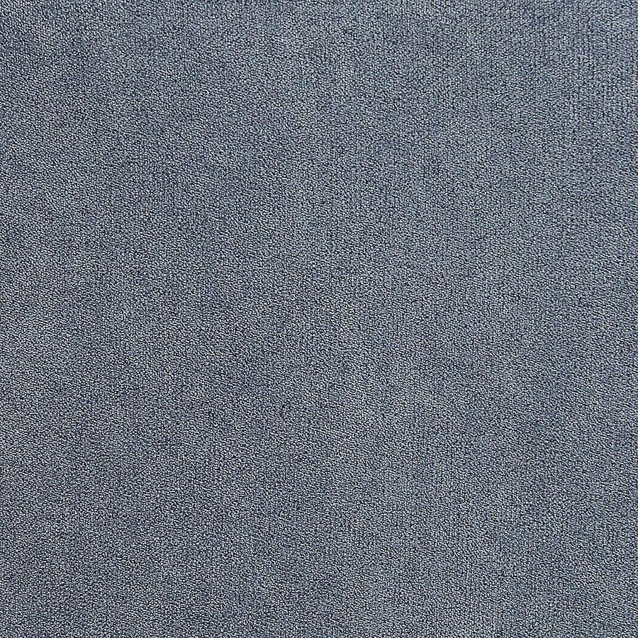 Fauteuil en tissu velours bleu gris - Auguste