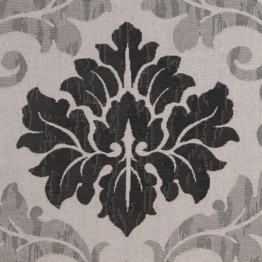Fauteuil en tissu Arabesque et finition Noir - Auguste
