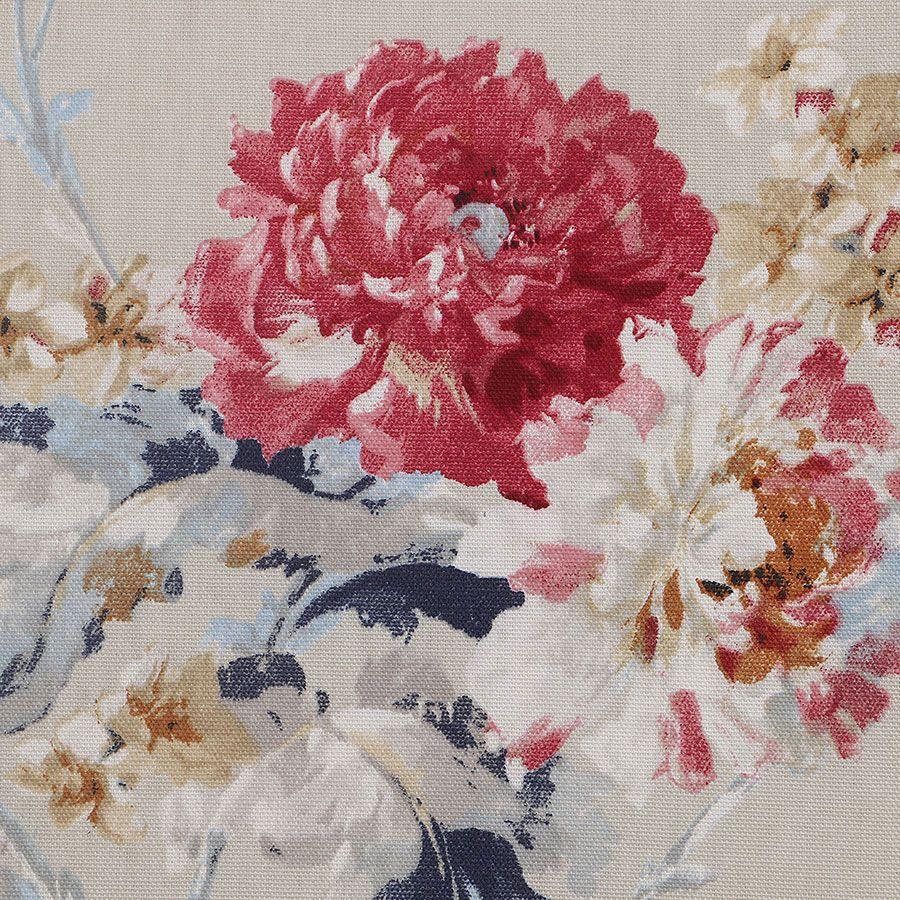 Fauteuil en frêne et tissu fleuri - Auguste
