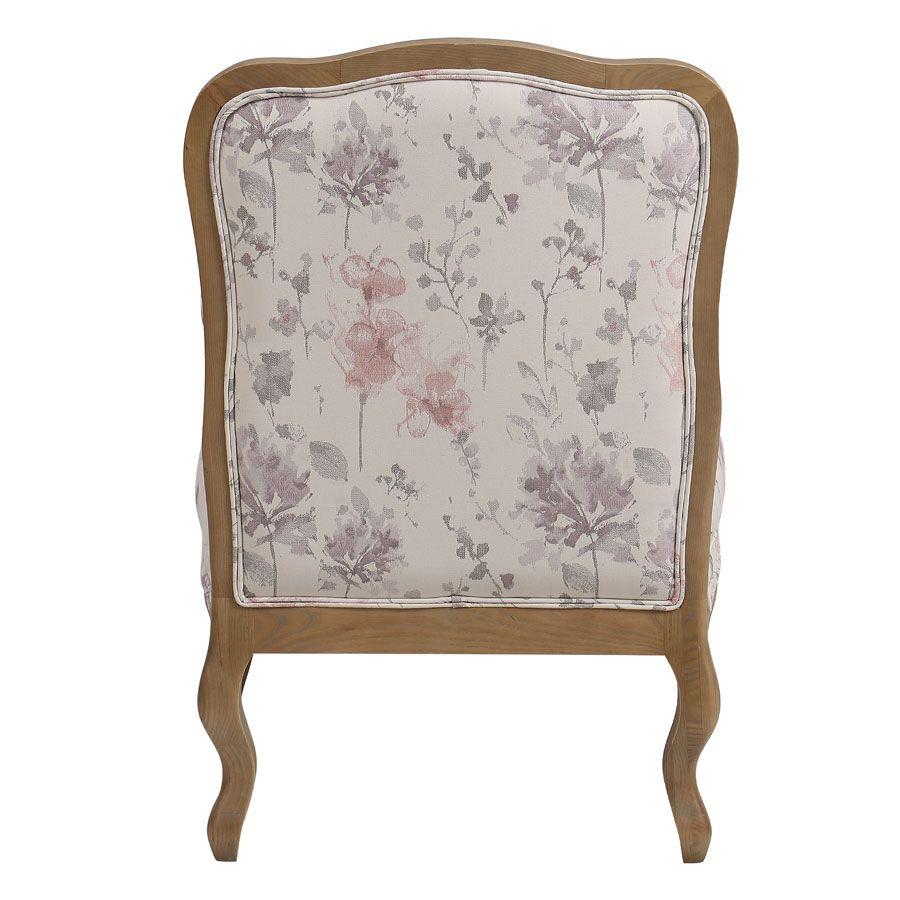 Fauteuil en tissu fleur opaline - Auguste