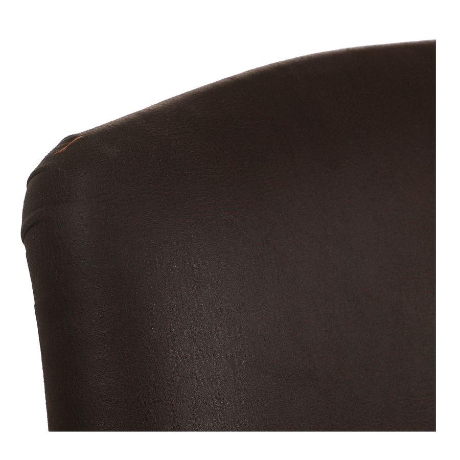 Fauteuil en éco-cuir chocolat et frêne massif - Raphaël