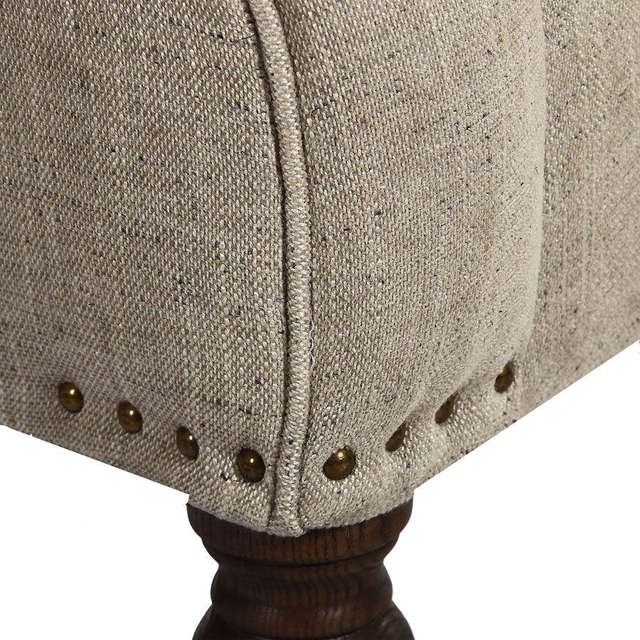 Fauteuil en frêne massif et tissu mastic grisé - Raphaël
