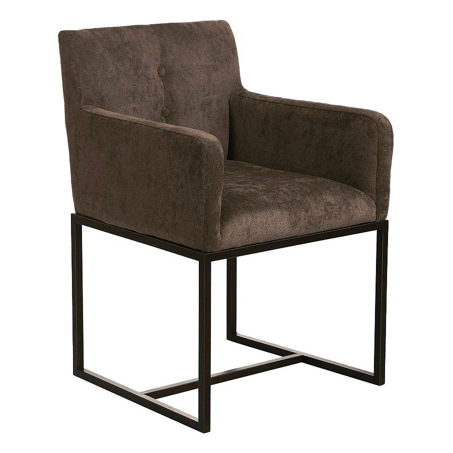 Fauteuil de table en velours bronze - Eliott