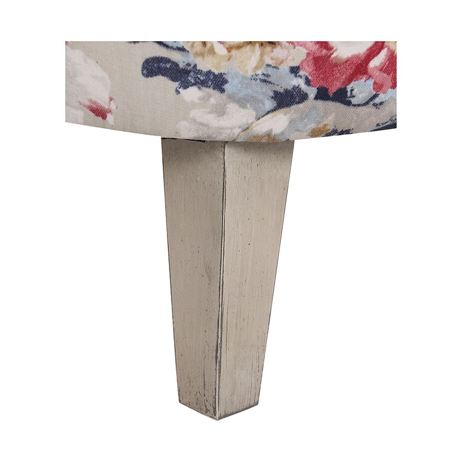 Fauteuil en hévéa et tissu Jardin Anglais - Victor