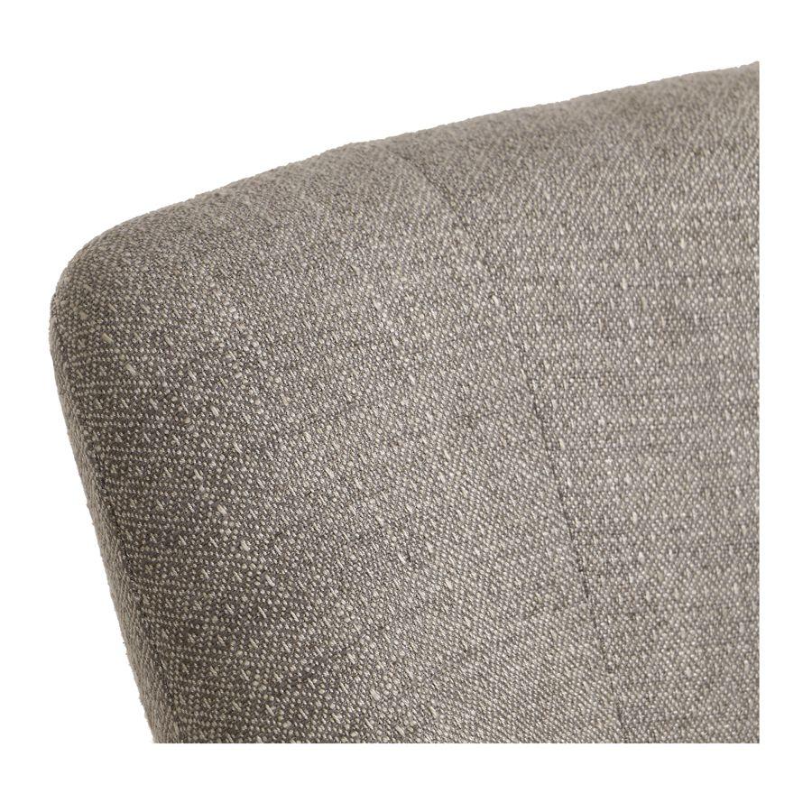 Fauteuil crapaud en tissu losange gris - Victor