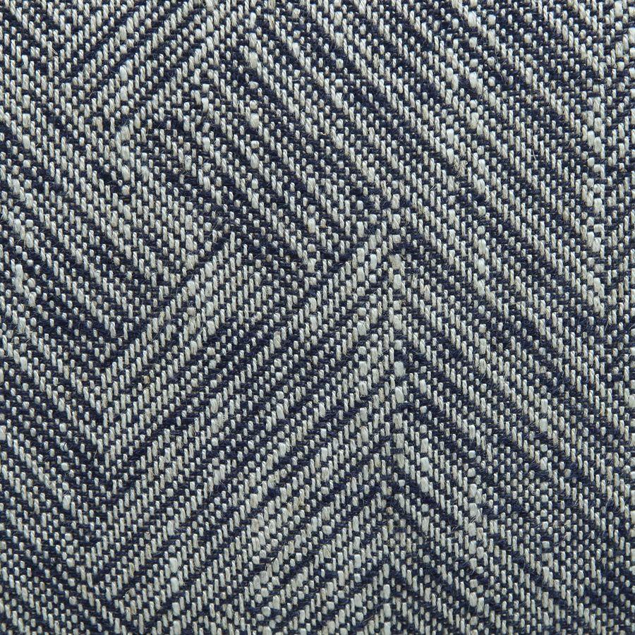 Fauteuil crapaud en tissu mosaïque indigo - Victor