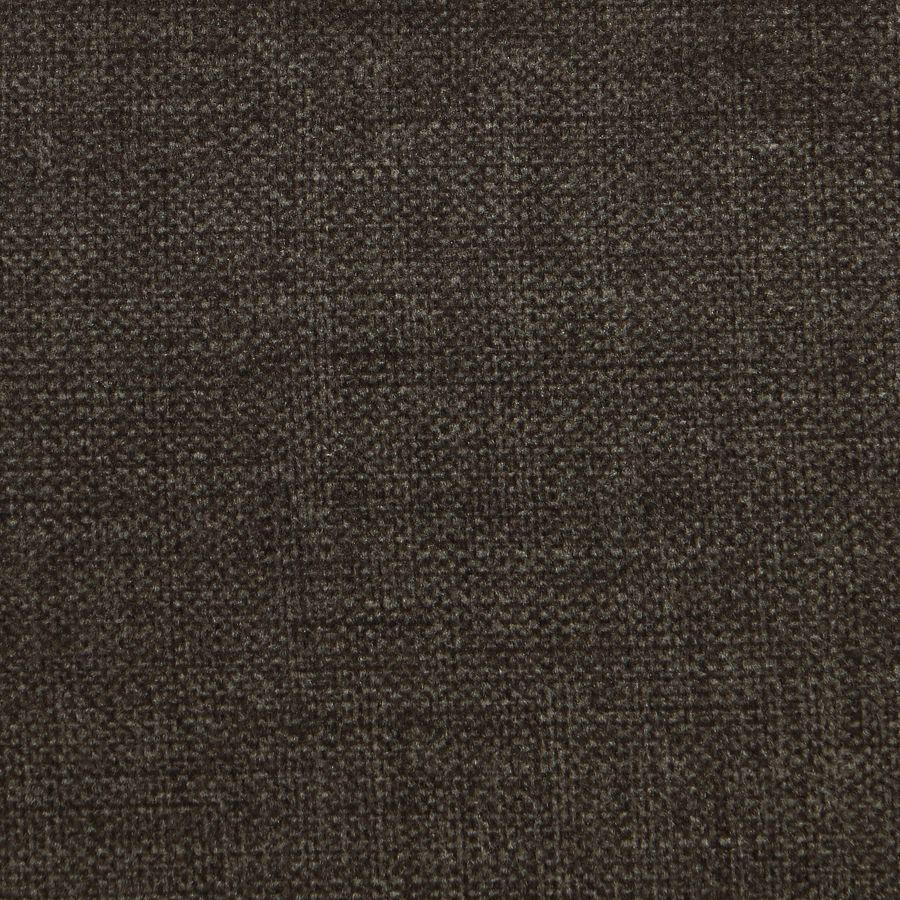 Fauteuil crapaud en hévéa noir et tissu marron glacé - Victor