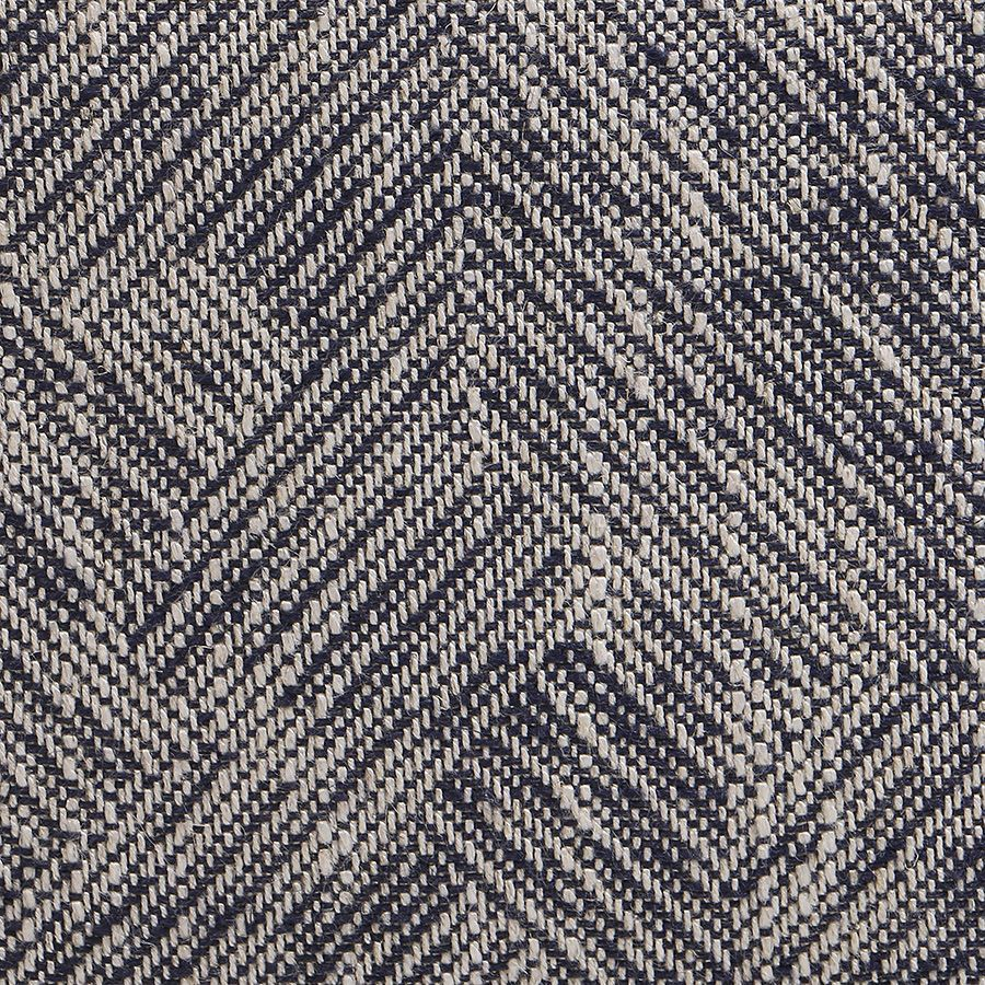 Fauteuil en hévéa et tissu Mosaïque indigo - Victor