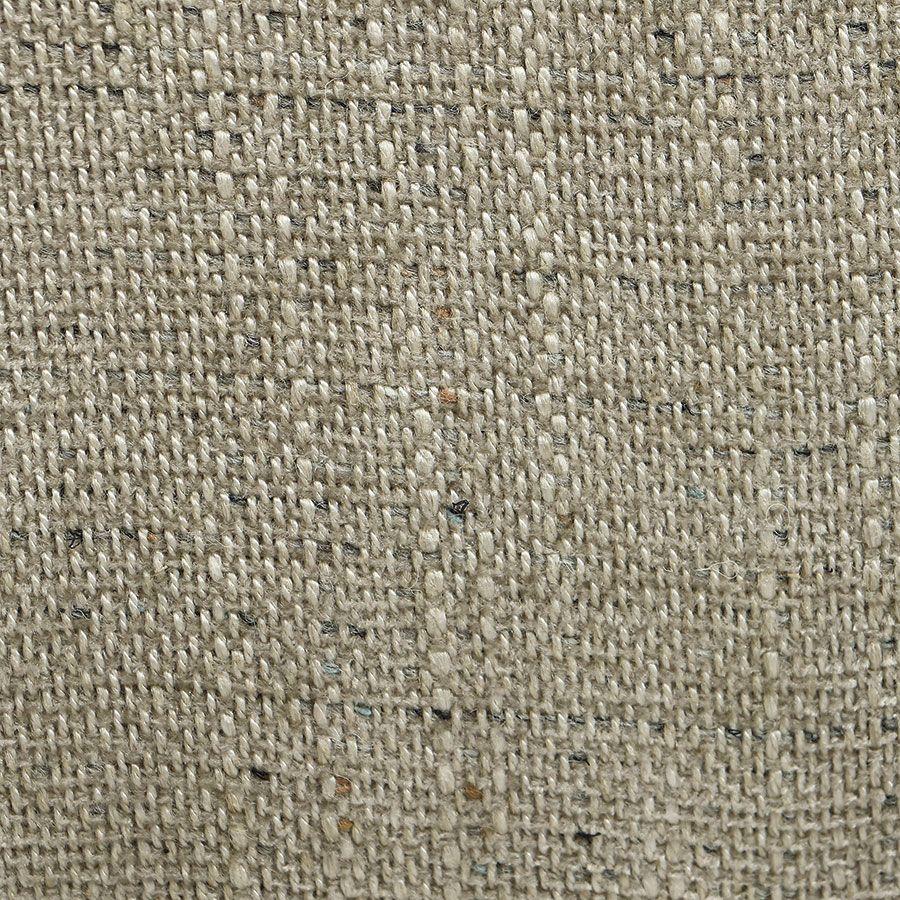 Fauteuil crapaud en hévéa noir et tissu mastic grisé - Victor