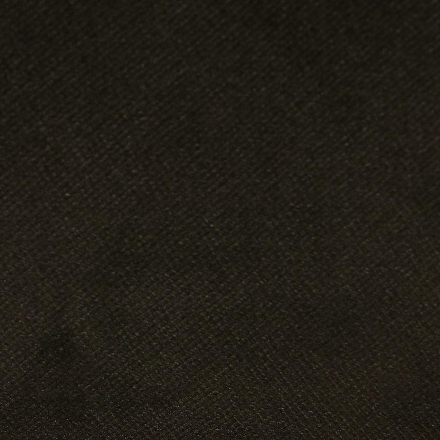 Fauteuil crapaud en velours kaki et hévéa massif noir - Victor