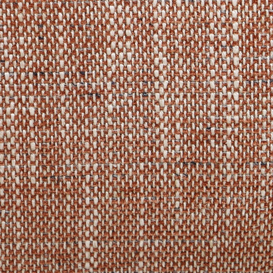 Fauteuil en frêne et tissu orange briqué - Victor