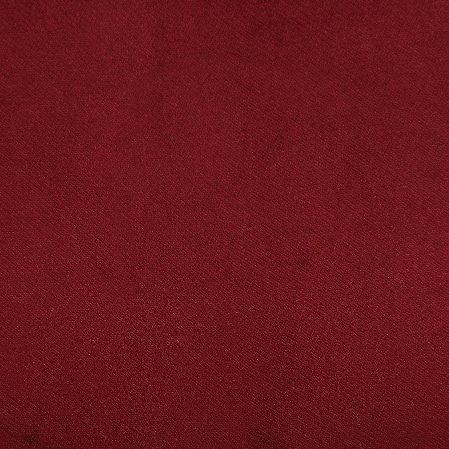 Fauteuil crapaud en tissu velours lie de vin - Victor