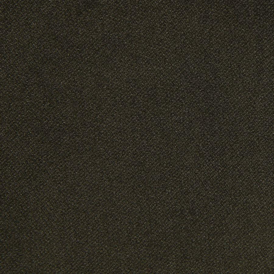 Fauteuil en velours kaki et hévéa massif noir - Marceau