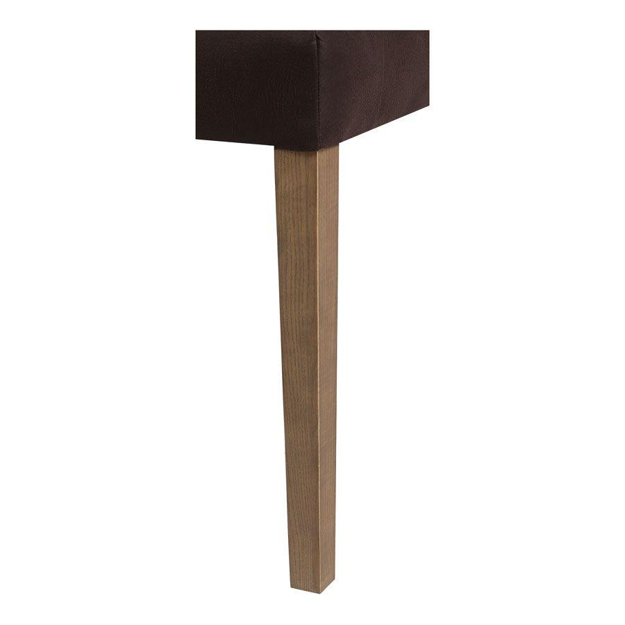 Fauteuil de table en éco-cuir chocolat - Marceau