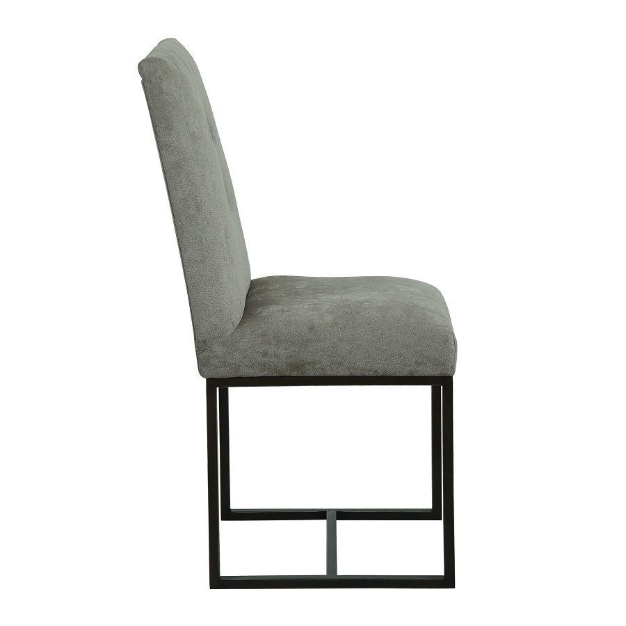 Chaise en velours taupe - Grace