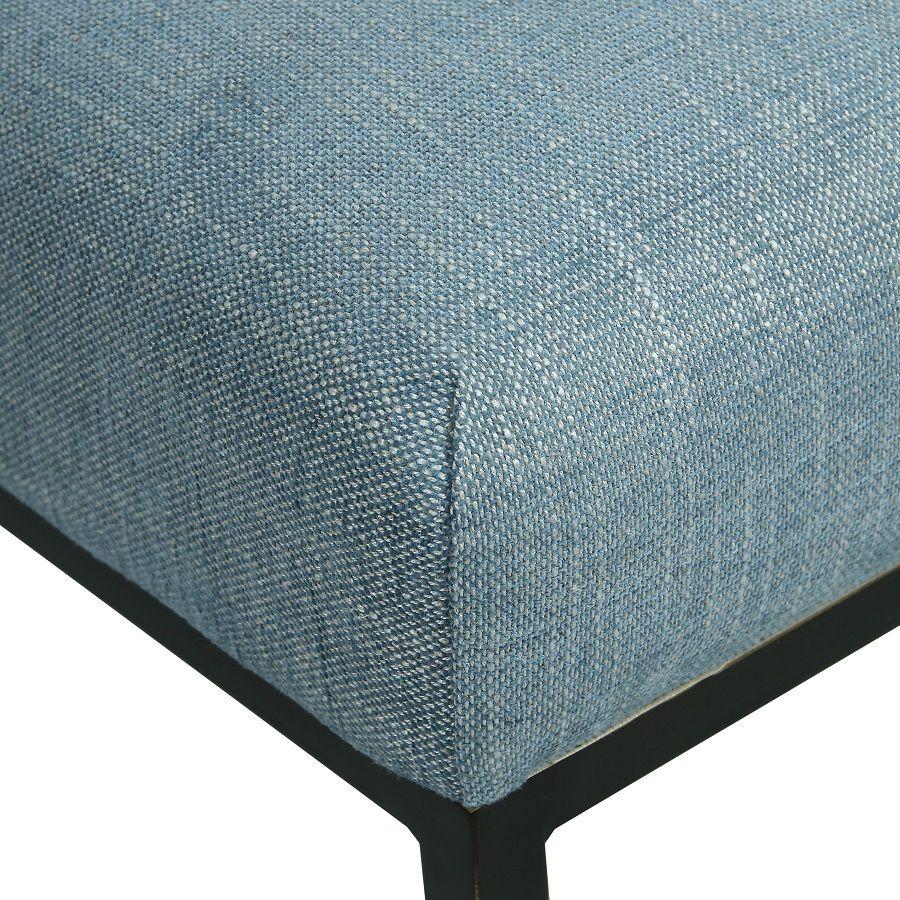 Chaise en tissu bleu chambray – Grace