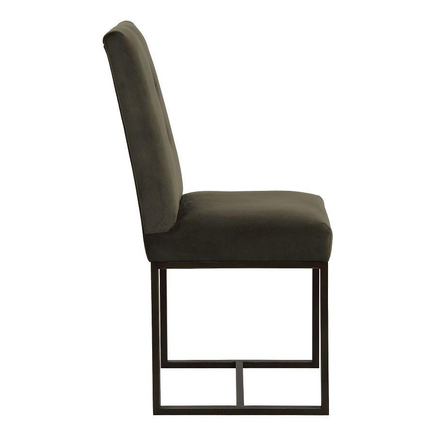 Chaise en velours kaki - Grace