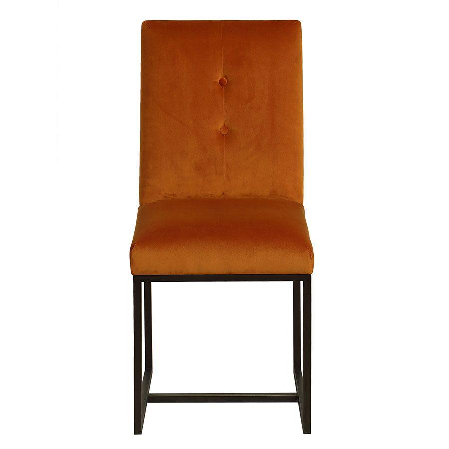 Chaise en velours safran - Grace