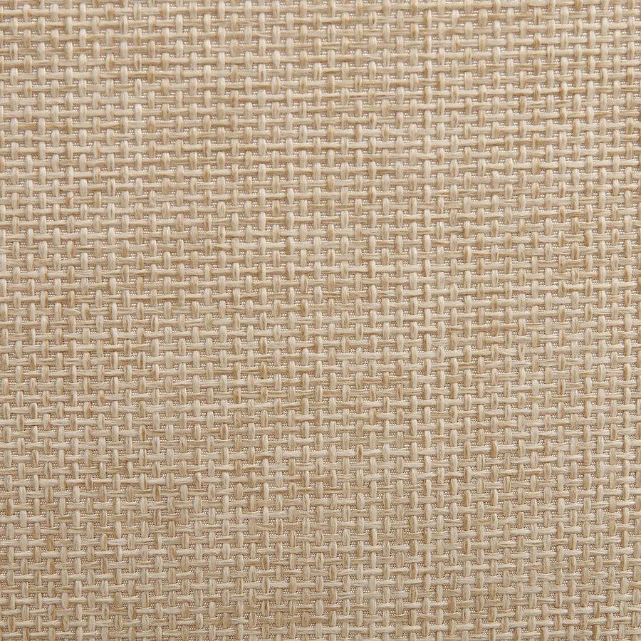 Pouf en tissu ficelle et frêne - Elie