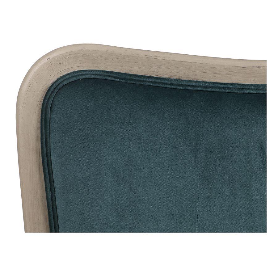 Tête de lit 180 cm en velours vert bleuté - Joséphine