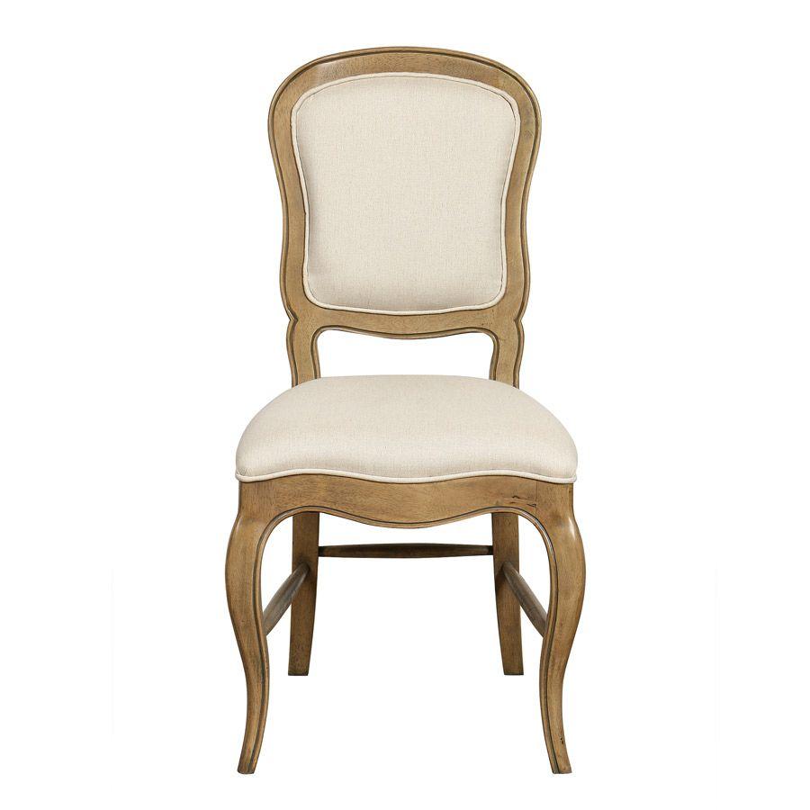 Chaise en tissu ficelle et hévéa massif - Éléonore