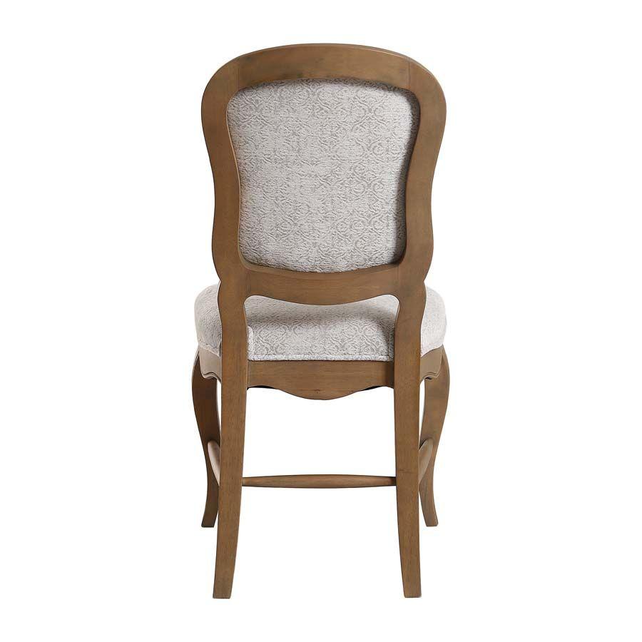 Chaise en frêne massif et tissu arabesque - Éléonore