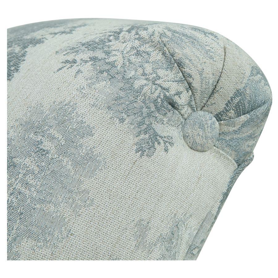 Méridienne droite en tissu toile de Jouy - Eugénie