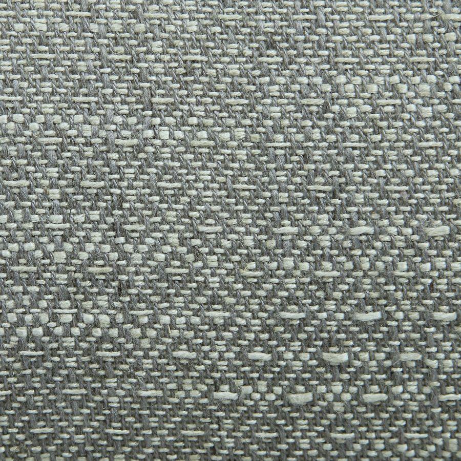 Méridienne droite en tissu losange gris - Eugénie