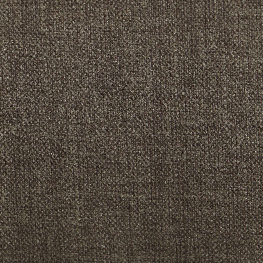 Méridienne droite en tissu marron glacé - Eugénie