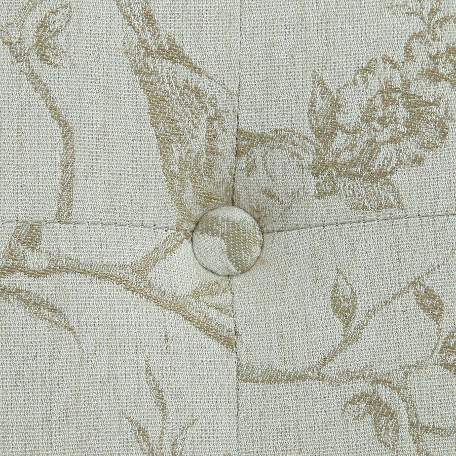 Méridienne droite en tissu paradisier - Eugénie