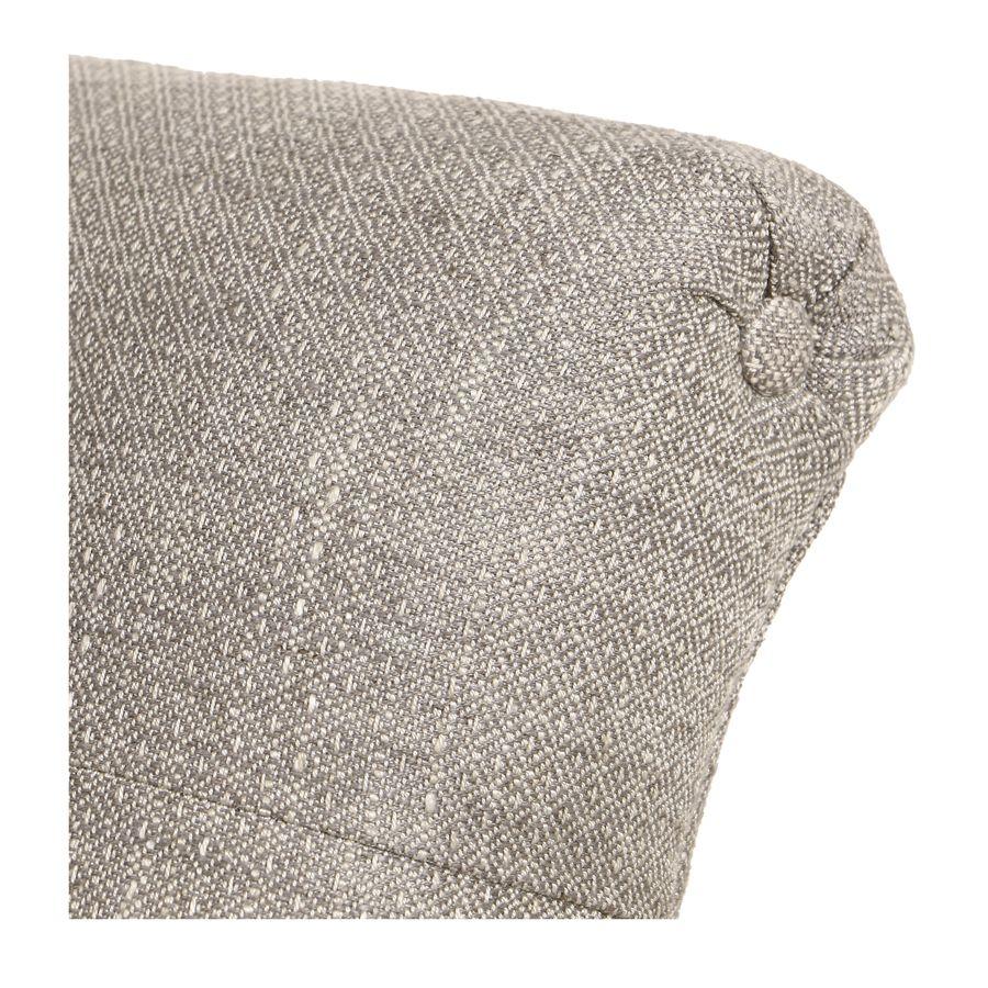 Méridienne droite en tissu losange gris et frêne massif - Eugénie